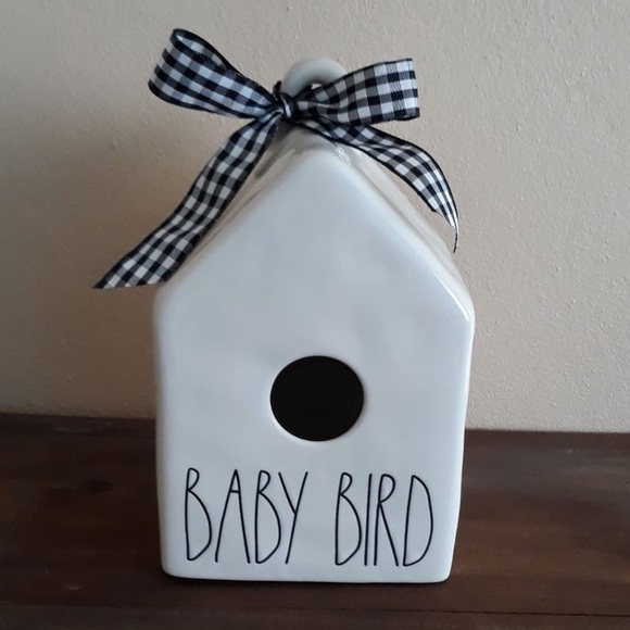 Rae Dunn square baby bird birdhouse